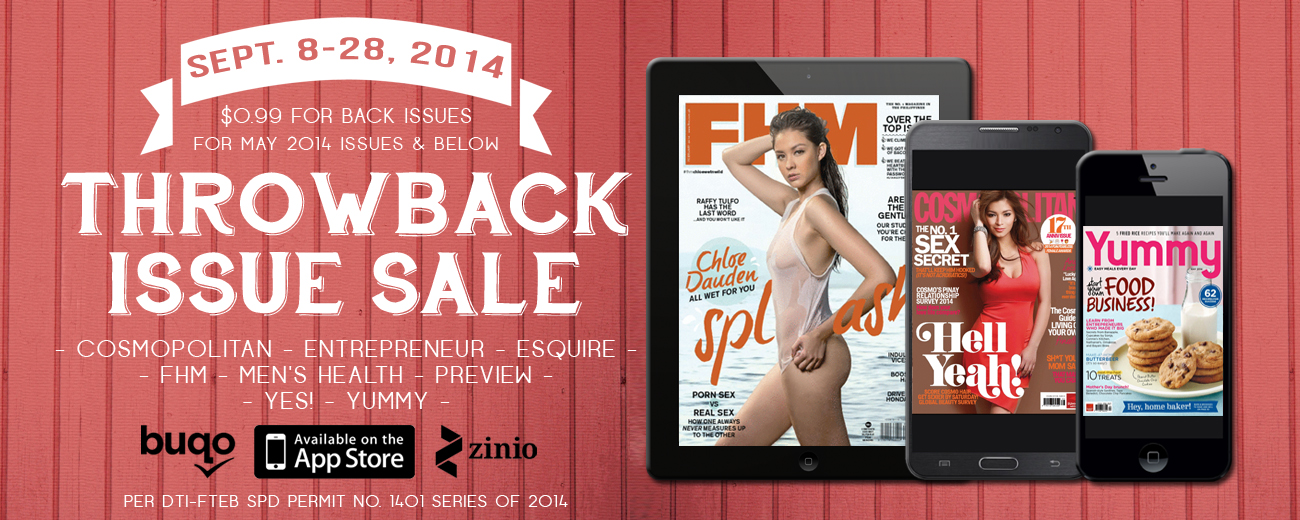 Throw-back Issue Sale