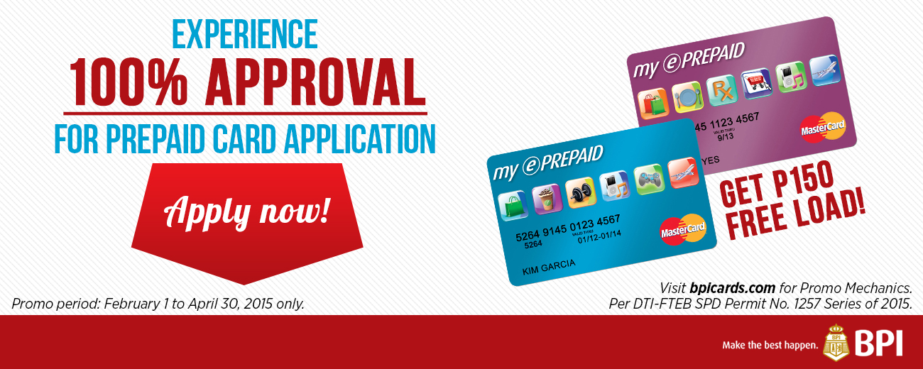 Apply for a My ePrepaid MasterCard